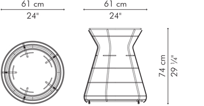 ダイニングテーブル HAGIA サイズ