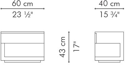 ナイトテーブル KABUKI サイズ