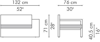 アームチェア・1人用ソファ LINK サイズ