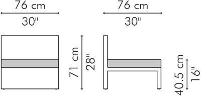 イージーチェア LINK サイズ