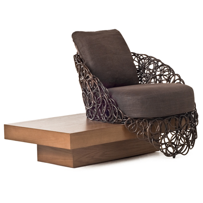 NOODLE - EASY ARMCHAIR with PLATFORM