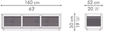 テレビボード スモール SUZY WONG サイズ