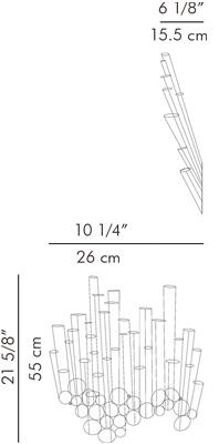 ウォールベース 花瓶 CROKKIS / hive サイズ