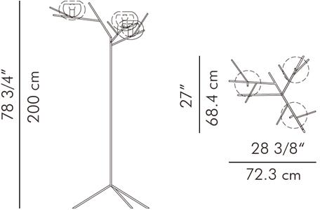 フロアランプ・ウォールランプ CUCKOO / hive サイズ