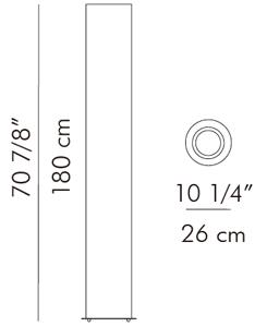 スリムフロアランプ KAI / hive サイズ
