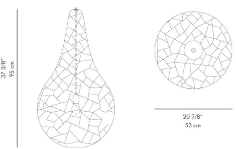ペンダントライト KRIS KROS / hive サイズ