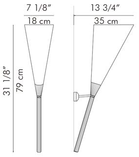 ウォールランプ LUAU / hive サイズ